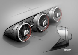 2014 Audi TT Interior Air vents Design Sketch