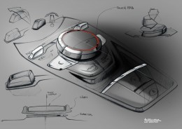 2014 Audi TT Interior Design Sketch Center tunnel