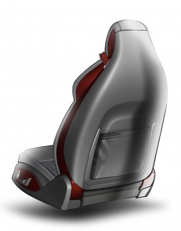 2014 Audi TT Interior Seats Design Sketches