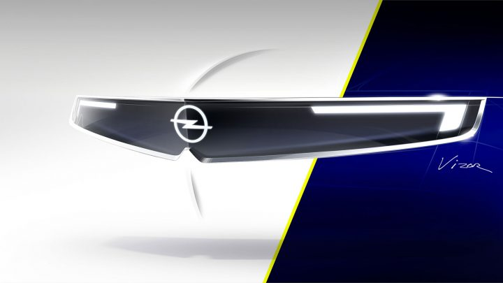 Opel Vizor Face Design Sketch