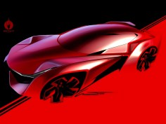Concept Car Photoshop rendering demo