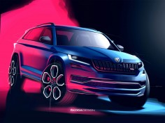 Škoda previews Kodiaq vRS with design sketches