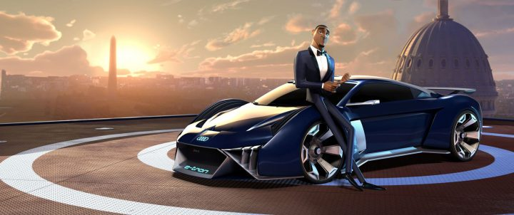 Audi RSQ e tron Concept in Spies in Disguise animated movie
