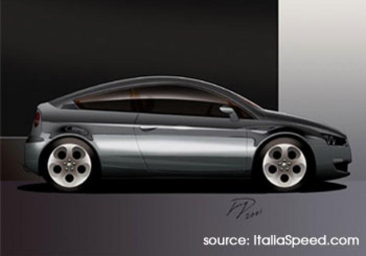 Alfa Romeo Compact Coupe Car Body Design