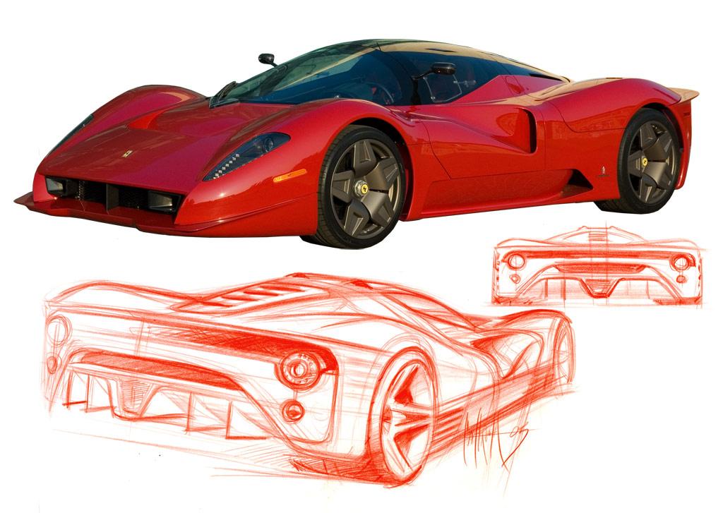 Pininfarina Ferrari P Car Body Design