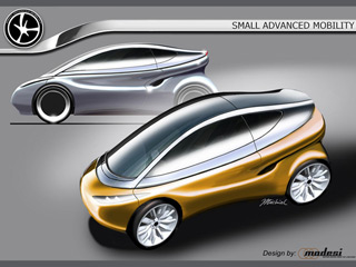 Small Advanced Mobility (SAM) vehicle - design study