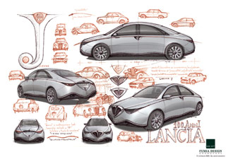 Lancia J - Design Sketches