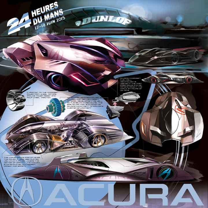 Acura FCX 2020 Le Mans Panel