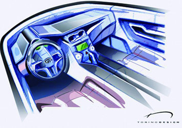 Chery Lei interior sketch