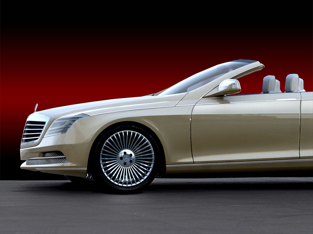 Mercedes Benz Ocean Drive Concept Wood Print by Car