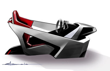 Toyota FT-HS Concept - Interior Design Sketch