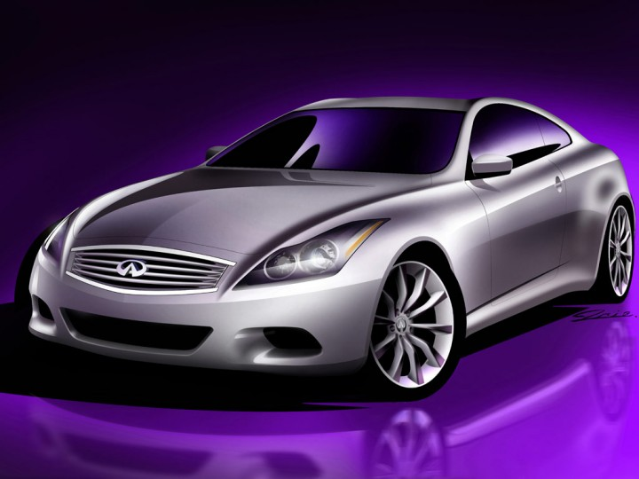 Infiniti G Coupe preview sketch