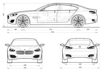 Bmw Concept Cs Dimensions Blueprint
