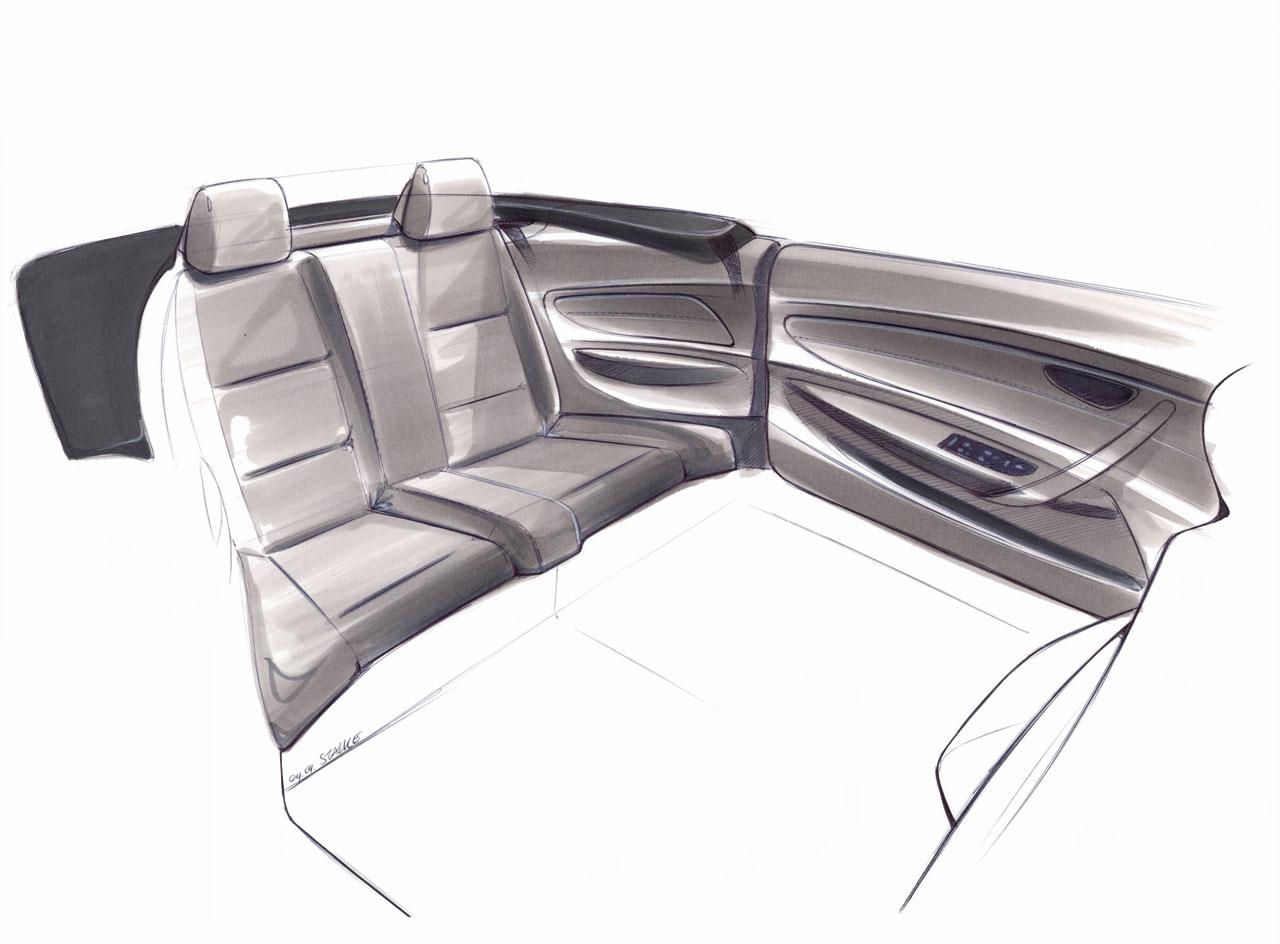 Bmw 1 Series Convertible Interior Sketch Car Body Design