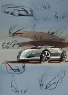 Renault Neptun - design sketches