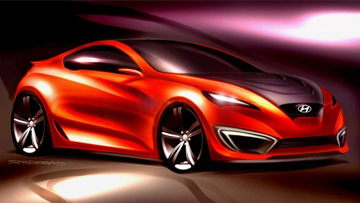 Hyundai Concept Genesis Coupe: preview sketches