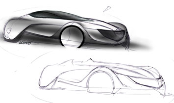 Mazda Taiki - design sketches
