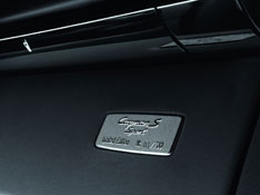 Numbered plaque on glovebox of Cayman S Sport