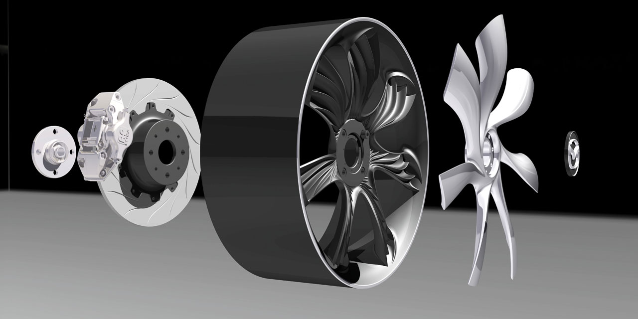 MazdaKiyora Rendering Wheel