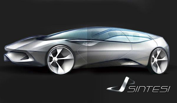 Pininfarina Sintesi design sketch