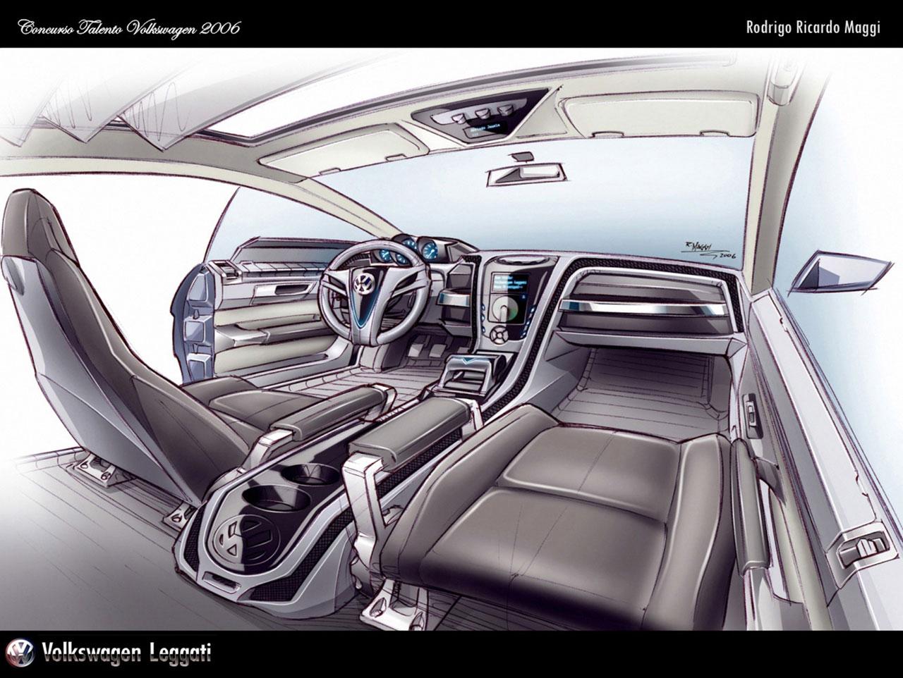 Vw Interior Sketch By Rodrigo Maggi Car Body Design