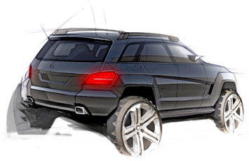 Mercedes Benz GLK Design Sketch