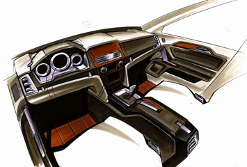 Mercedes Benz GLK Interior Design Sketch