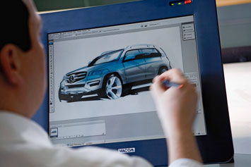 Mercedes Benz GLK Sketching On Cintiq