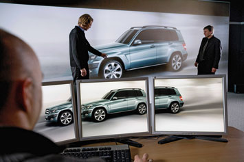Mercedes Benz GLK Virtual Reality Design
