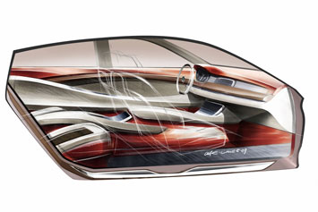 BMW Concept 5 GT Interior Design Sketch