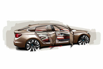 BMW Concept 5 Series GT Design Sketch