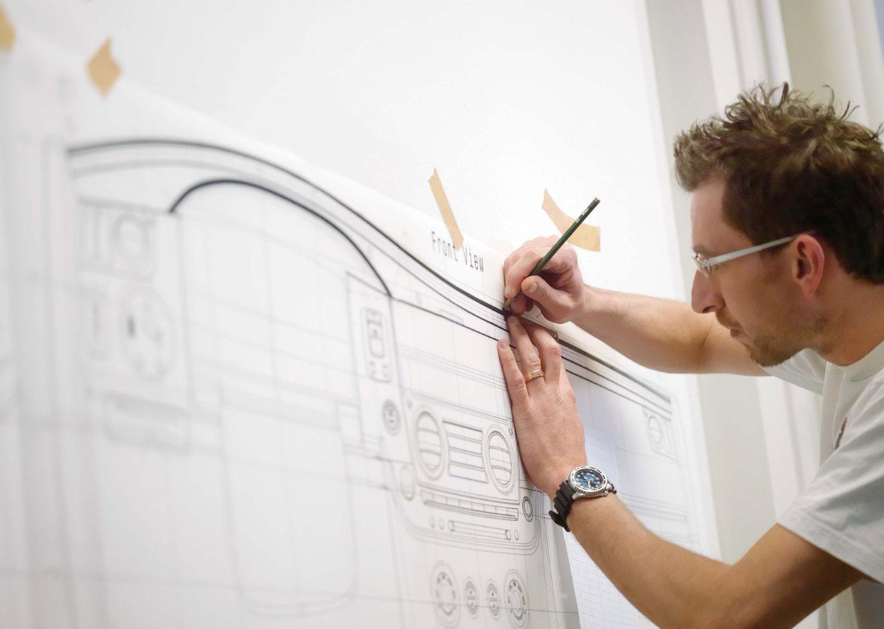 Rolls Royce 200ex Tape Drawing Car Body Design