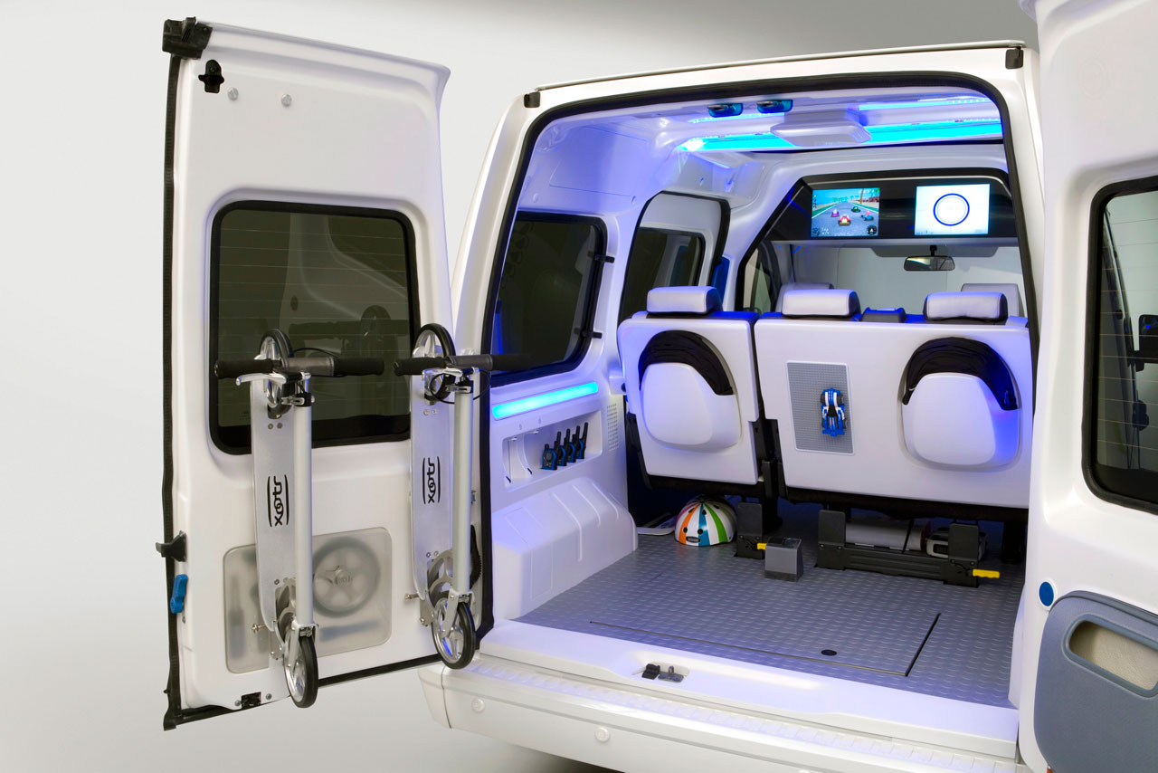 Ford Transit Connect Fo Concept Interior Car Body Design