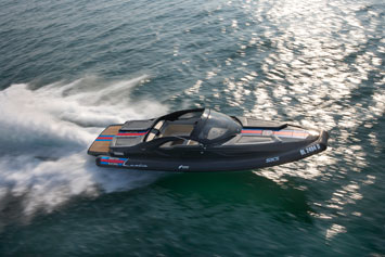 Lancia Powerboat At Sea