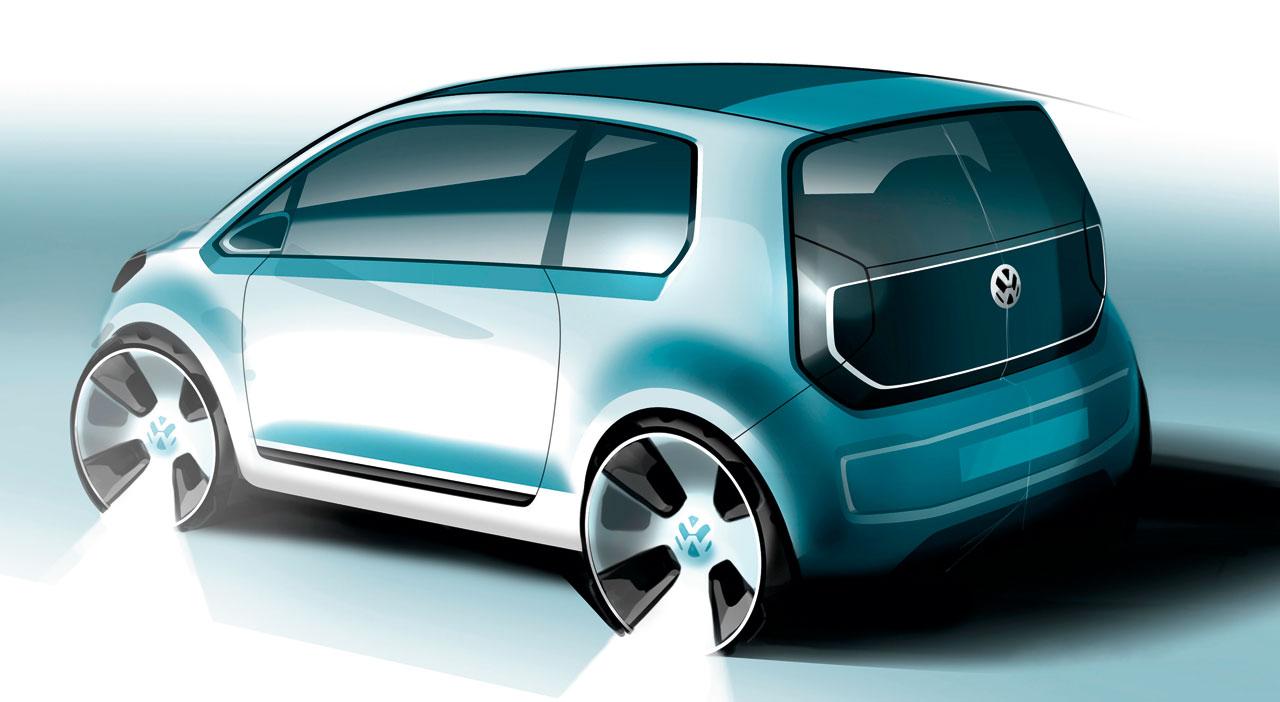 vw e up  concept design sketch