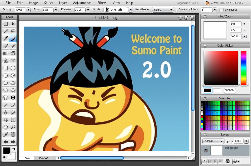 Sumo Paint Screenshot Car Body Design