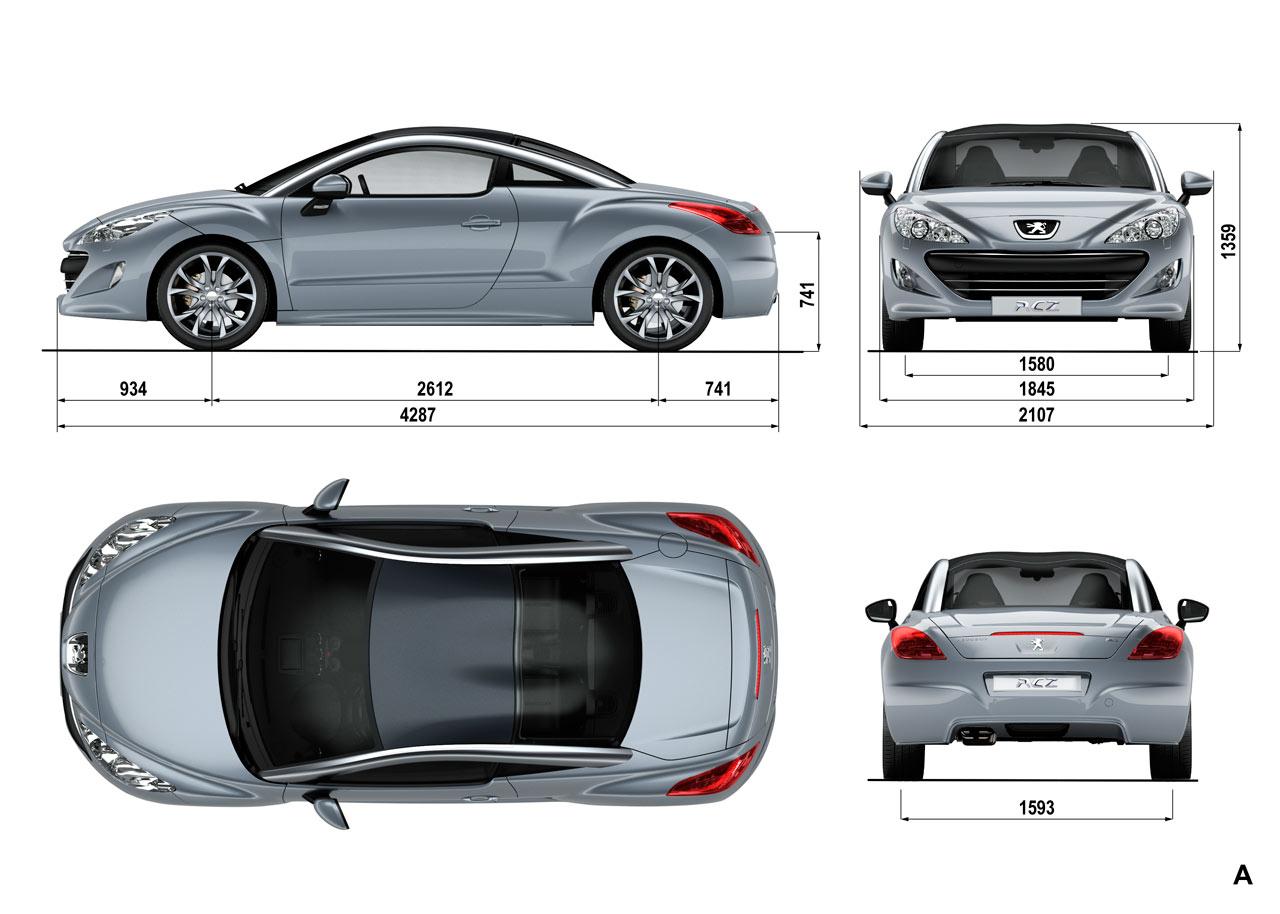 Peugeot Rcz Dimensions Car Body Design