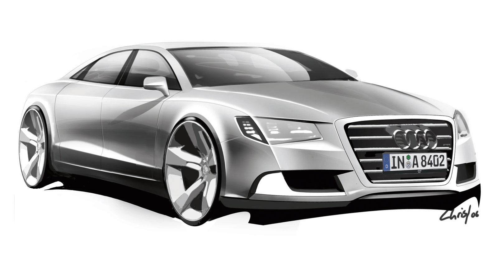 Audi A8 Design Sketch Car Body Design