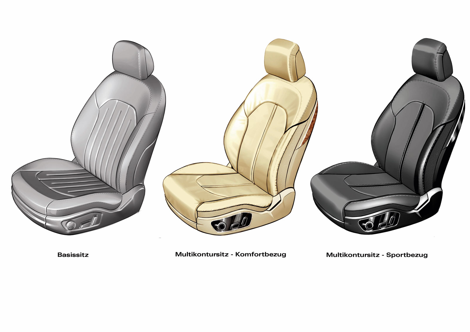 Audi A8 Seats Design Sketches Car Body Design