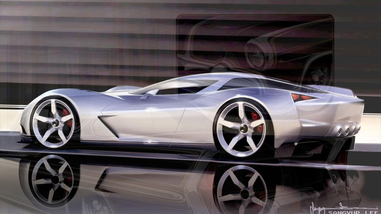 Corvette Stingray Concept Sketch By Sangyup Lee