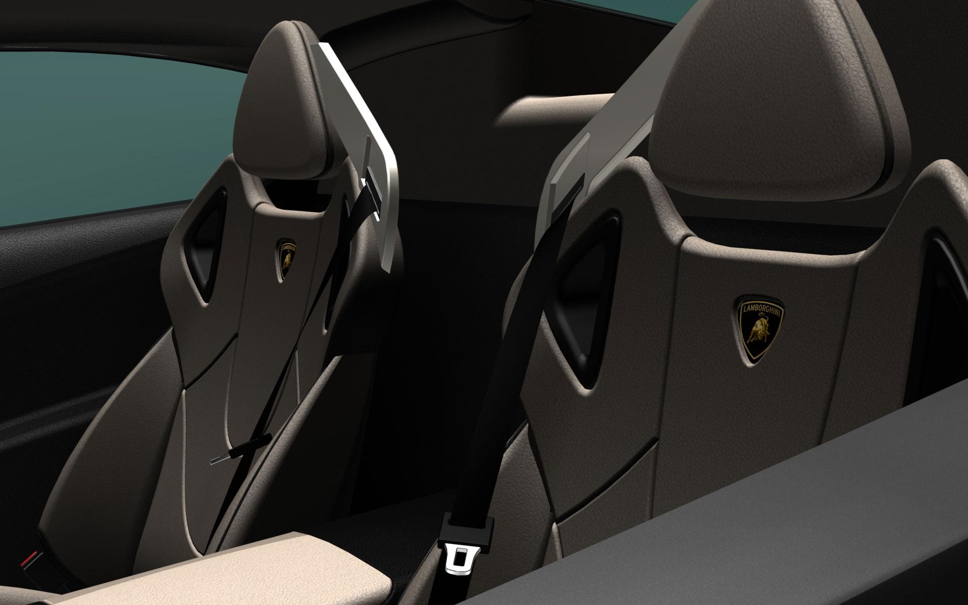 Lamborghini Murcielago Interior Rendering Car Body Design