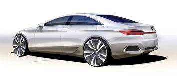 Mercedes Benz F800 Style Design Sketch