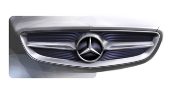 Mercedes Benz F800 Style Grille Design Sketch