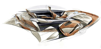 Mercedes Benz F800 Style Interior Design Sketch