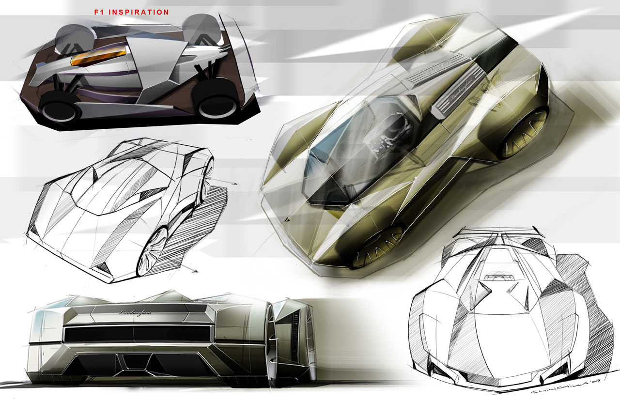 Lamborghini Le Mans Concept Design Sketch Car Body Design