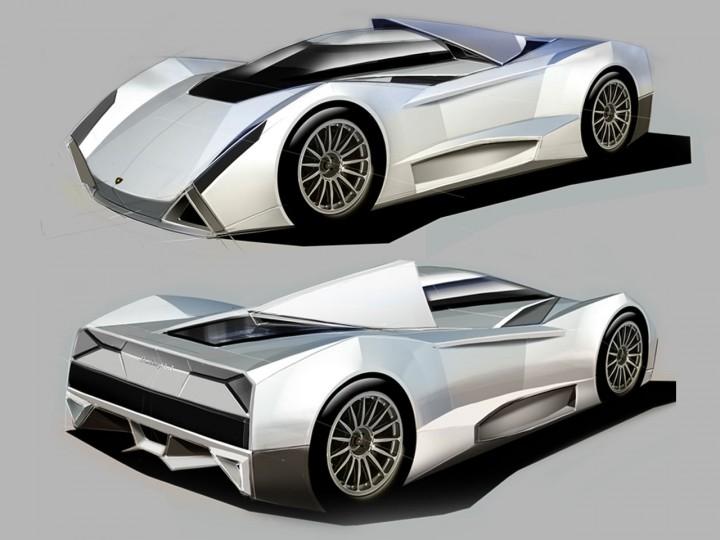 Lamborghini Le Mans Concept Car Body Design