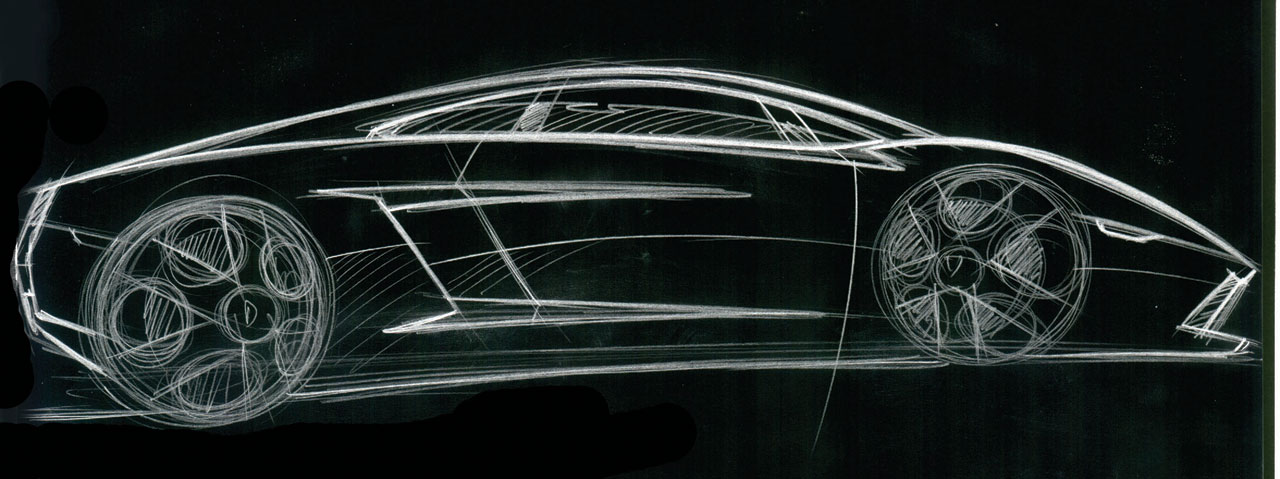 Lamborghini Gallardo Design Sketch Car Body Design