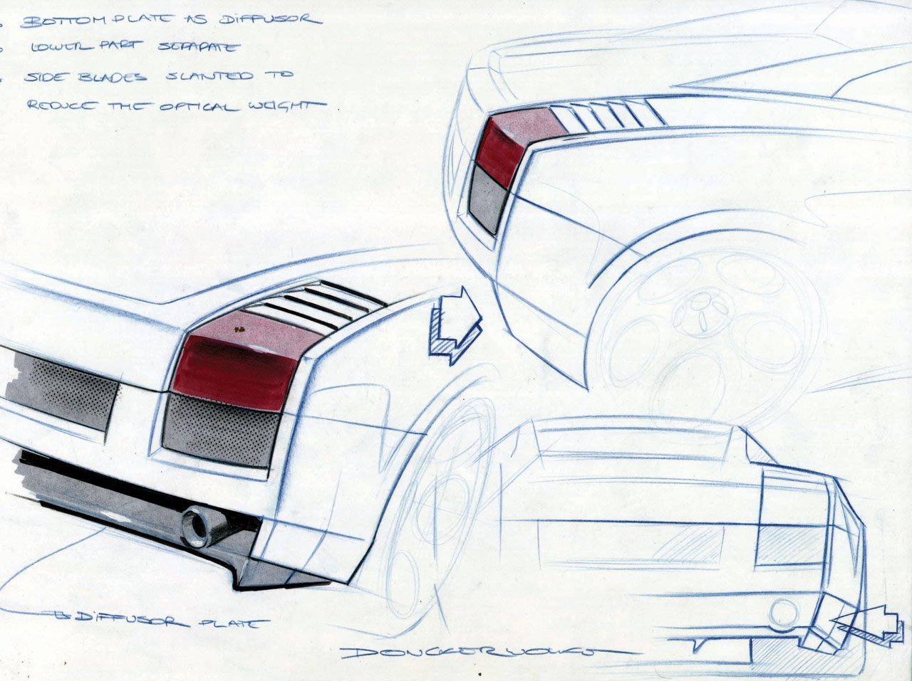 Lamborghini Gallardo Design Sketch Car Body Design