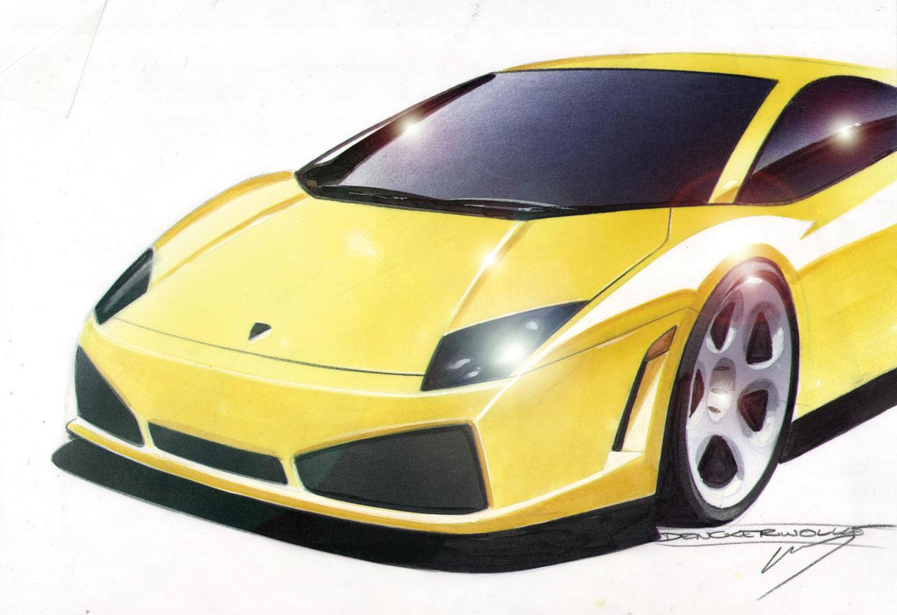 Lamborghini gallardo design sketch
