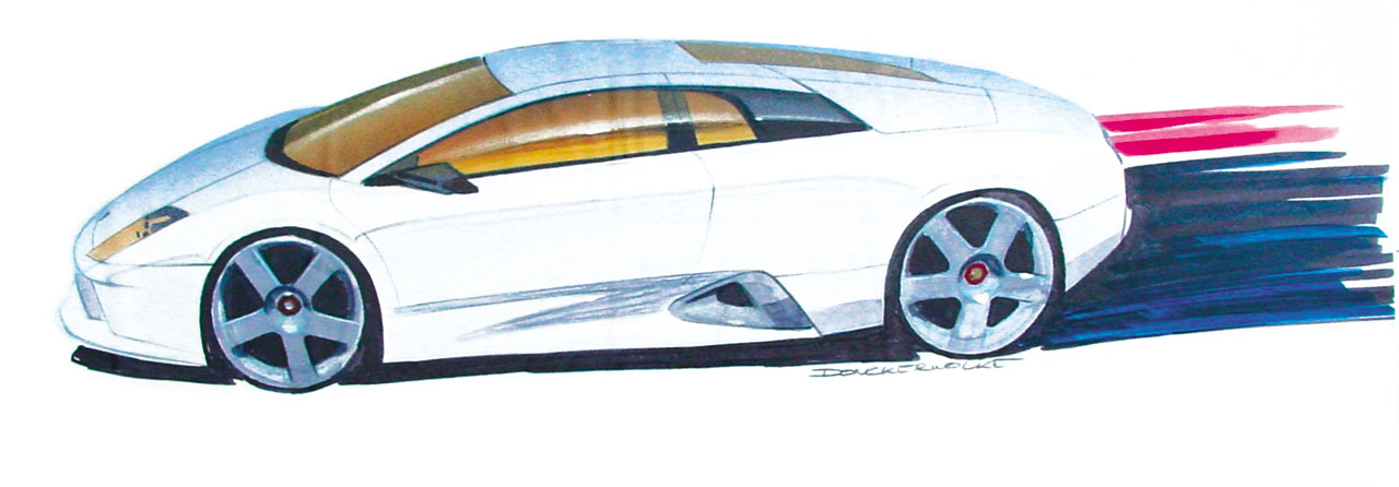 Lamborghini Murcielago Design Sketch Car Body Design